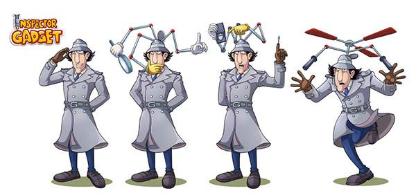 inspector_gadget_study_by_vdvector-d33k9db