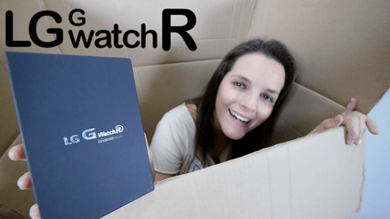 LG G Watch R, unboxing