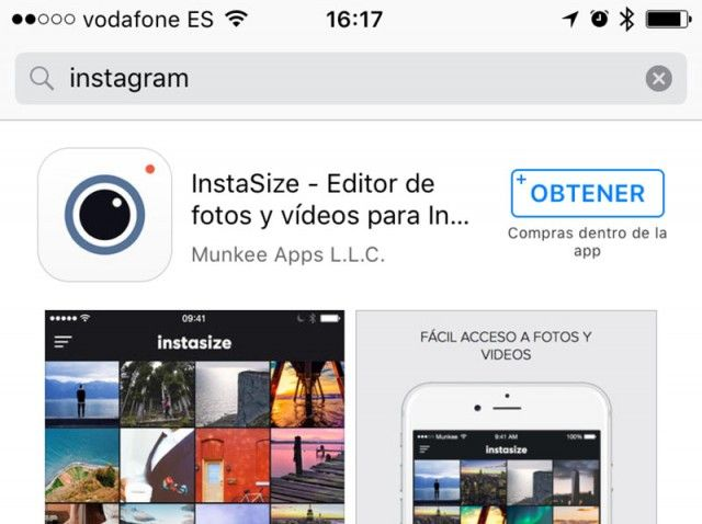 instagram no app store