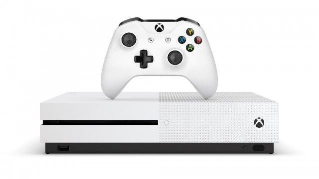 Xbox One S Console & Controller Front Tilt