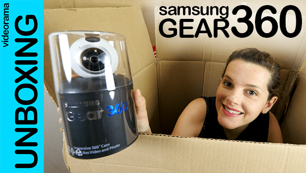 Samsung Gear 360, unboxing